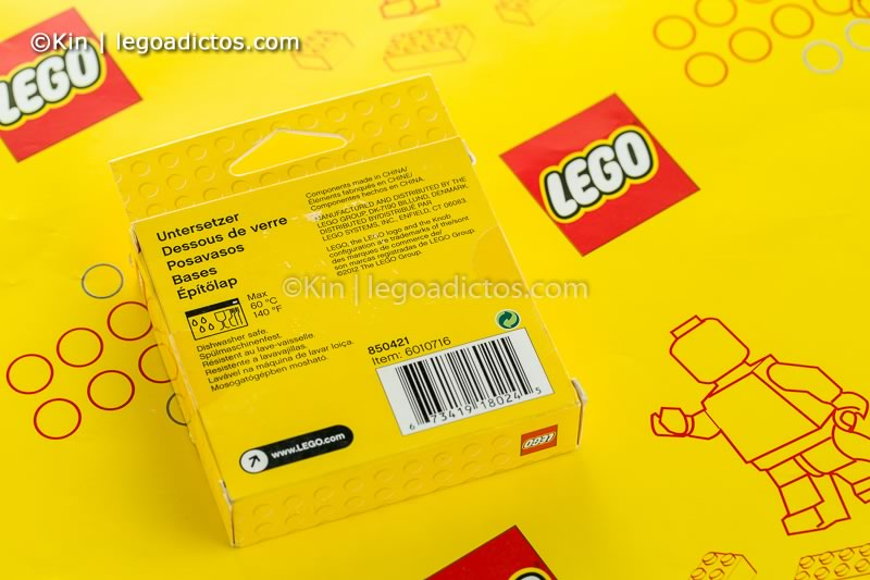 review posavasos de lego-9742