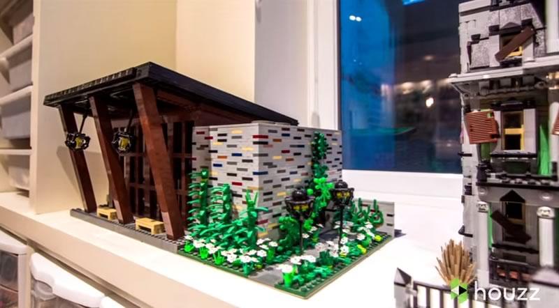 asombroso sotano lleno de piezas de lego - creaciones